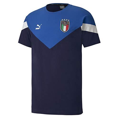 PUMA FIGC Iconic MCS Tee T-Shirt pour Homme, Homme, Tricot, 756660-01, Bleu, XL