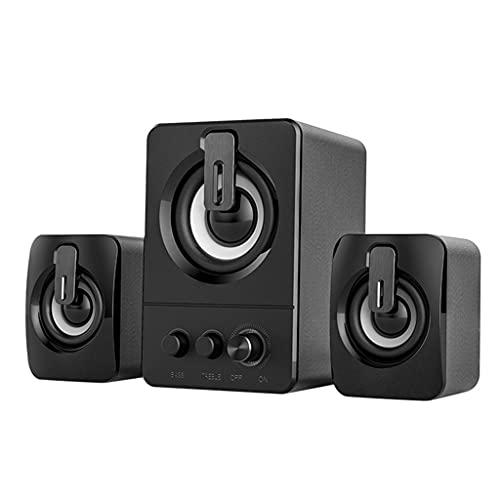 MYBOON Altavoz USB para computadora, Graves Profundos, Sonido estéreo, Reproductor de música, Altavoces para el hogar, Altavoz de Escritorio, Negro