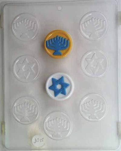 Concepts in Candy Hanukah Gelt w/Raised Star & Menorah Designs J015