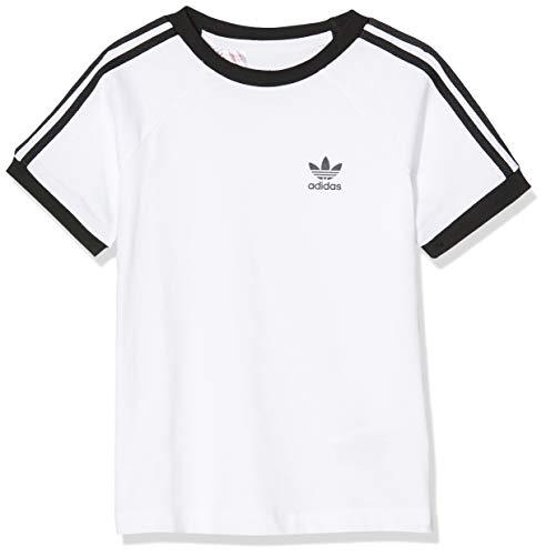 adidas DV2901 3STRIPES Tee T-Shirt Unisex - Bambini White/Black 1112