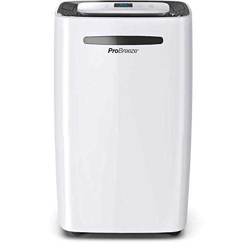 Pro Breeze? 20L/Day Dehumidifier with Digital Humidity Display, Sleep Mode, Continuous Drainage, Laundry Drying and 24 Hour Timer - Ideal for Damp and Condensation