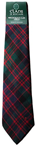 I Luv Ltd MacDonald Clan 100% Wool Scottish Tartan Tie