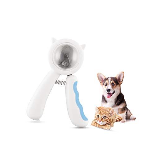 YINLING Cortaúñas para Mascotas, Cortaúñas A Prueba De Salpicaduras para Gatos Y Perros, Herramientas para El Cuidado De Mascotas,Azul