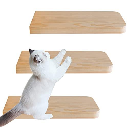 Parete da arrampicata per gatti, Gradini per Gatti Scale per Gatti in Legno Massello Scala Supporto da parete per animali domestici, scalinata e salone, per salire e salire, set da 3 pezzi