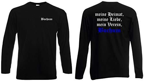 world-of-shirt / Bochum Herren Longsleeve Meine Heimat, Mein Verein Schwarz L