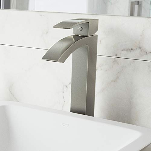 VIGO VG03007CH Duris Brass Bathroom Single Handle Seven Layer Plated Lavatory Vessel Faucet Chrome Finish for Vessel Sink