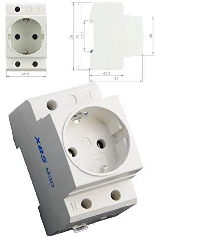 250V /16A Einbausteckdose Hutschiene Zählerschrank Verteilereinbau Steckdose