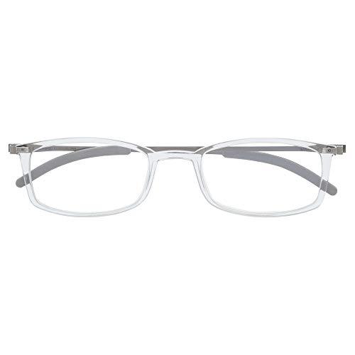 DIDINSKY Gafas de Lectura Graduadas Ultra Delgadas para Hombre y Mujer. Gafas de Presbicia muy Ligeras con Lentes con Protección Luz Azul. Ash +2.0 - MACBA SQUARE
