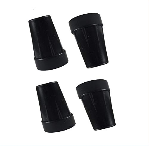 5/8' Black Rubber Replacement Cane Tips,4 Count