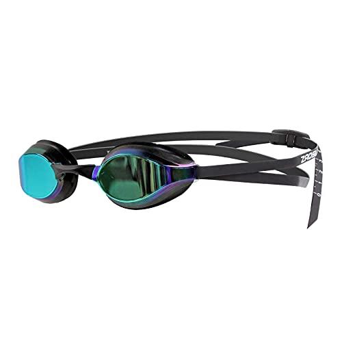 ZAOSU Z-Elite Mirror   verspiegelte Wettkampf Schwimmbrille Anti-Beschlag, UV-Schutz, wasserdicht, Erwachsene Unisex, Kinder und Jugendliche, Farbe:schwarz/Gold