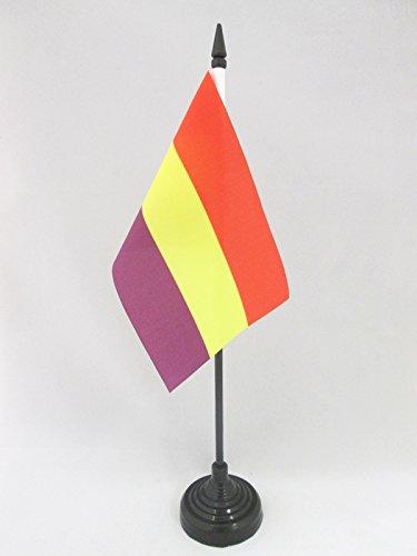 AZ FLAG Bandera de Mesa ESPAÑA Republicana SIN Escudo 15x10cm - BANDERINA de DESPACHO DE LA Republica ESPAÑOLA 10 x 15 cm
