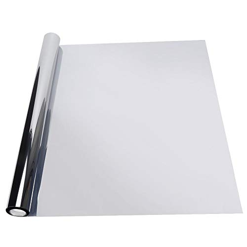 0,5 x 3 meter reflecterende zilveren wegwerp-zonwerende folie ter bescherming van de privacy thuis MEHRWEG verpakking