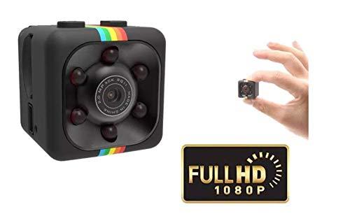 Cámara oculta 1080P Full-HD de tamaño pequeño, micro vigilancia de seguridad invisible con visión nocturna inalámbrica, con detección de movimiento, portátil para exterior/interior