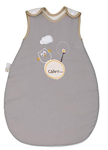 P'tit Basile - Saco de lactancia, para bebé prematuro de algodón ecológico, colección mixta Búho0 – 1 mes, 50 cm.Para bebé prematuro o bebé pequeño.Todas las estaciones.