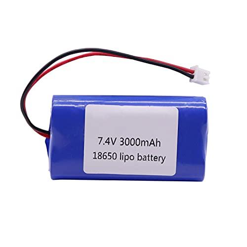 RFGTYH Batería de Litio de 7.4V 3000mah Lipo 7.4V 2S para Accesorios de Juguetes RC