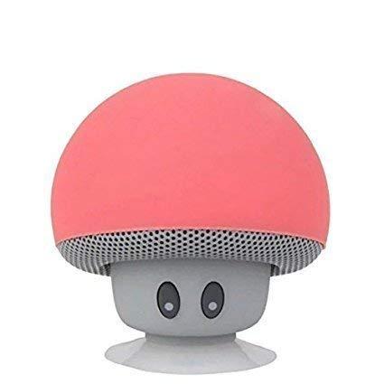 Altavoz Bluetooth portátil,Altavoz de Hongos,Bluetooth V2.1 con Ventosa,Compatible con iPad, iPhone, teléfonos Android,computadora portátil (Rojo)