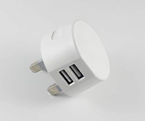 1 pieza cargador USB 3 pines enchufe Reino Unido 2 puertos USB adaptador enchufe compatible con teléfonos móviles iPhone 4 4s 5 5s iPod Samsung Sony