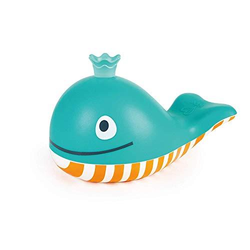 Hape E0216 Badespielzeug Seifenblasen-Wal, Badewannenspielzeug, Mehrfarbig