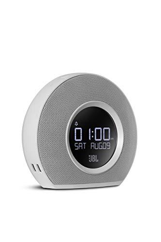 JBL Horizon Bluetooth Clock Radio with USB Charging and Ambient Light (White) (Renewed)