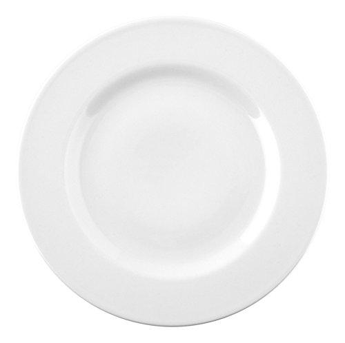 Saturnia Ischia Assiette en Porcelaine, Blanche, 21x 21x 2cm - Lot De 12