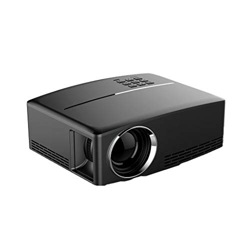 ZYN-RN Mini-Projektor tragbarer Videoprojektor Gp80 Multimedia-Heimkino-Filmprojektor kompatibel mit 1080P für Heimkino-Unterhaltungsparty-Spiele,Black