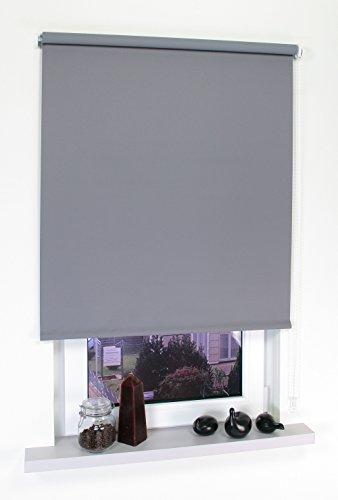 Liedeco® Rollo, Fenster Rollo, Kettenzug-Rollo / 202 x 180 cm (Breite x Höhe), dunkelgrau/Verdunkelnd, Abdunkelnd, Blickdicht/viele Farben, Größen und Typen/Breiten 60-200 cm/Variable Montage möglich