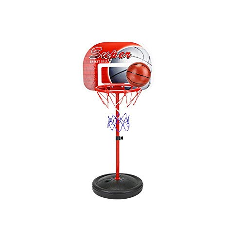 URVP Children's Basketball Rack Board Indoor Outdoor Play Toy Iron Stand Portable Can Rise and Fall Indoor Outdoor Shooting Toys Boys Girls Best Gift for Baby Infant Toddler Basketball Hoop