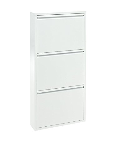 Wink design ,Winston-Salem, Scarpiera 3/A, Metallo, Bianco