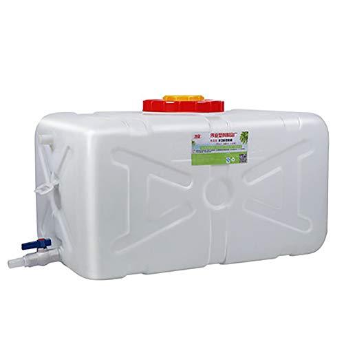NDZSTZ - Depósito de agua portátil, de plástico, para uso alimentario, de gran tamaño, tanque de agua rectangular de gran capacidad, para exteriores o camping, tamaño 25 L