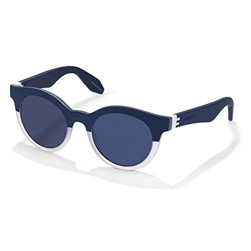 Swatch Herren Sonnenbrille Mehrfarbig Blu, Crystal