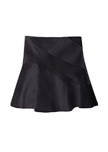 J.W. ANDERSON Charcoal Gray Corduroy Spiral Skirt (10)