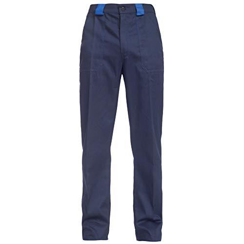 BWOLF ARES 100% Baumwolle Arbeitshosen Männer Arbeitshose Herren (Blau, M)