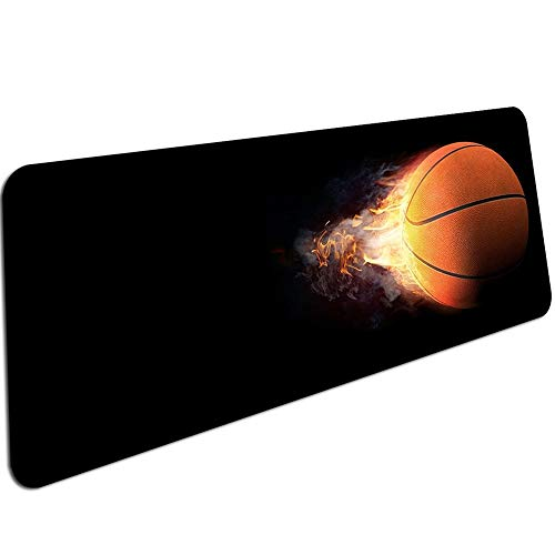 Basketball-Druck Rutschfeste Pc-Tastatur Gaming-Mauspads Größe für 30X70Cm 30X90Cm Gummimausmatten Großes Mauspad 600X300X3Mm