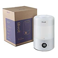 LEVOIT Air Purifier for Home Large Room with True HEPA, Filter for Allergies and Pets, Cleaner for Mold, Pollen, Dust, Quiet Odor Eliminators for Bedroom, Smart Sensor, LV-H133 Black