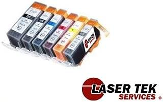 Laser Tek Services Compatible Ink Cartridge Replacements for Canon PGI-220 CLI-221 PGI-220BK CLI-221BK CLI-221C CLI-221M CLI-221Y CLI-221Gy (Pigment Black, Black, Cyan, Magenta,Yellow, Grey, 6-Pack)