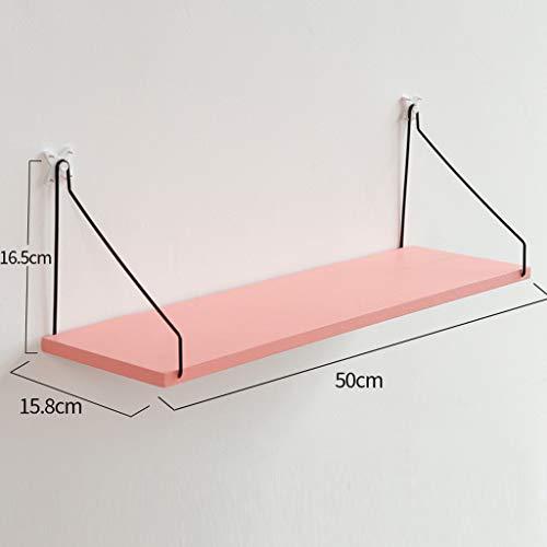 Shelf XM ZfgG bedplank, wandplank, wandplank, wandplank, wandplank, zwevend frame, donker hout, roze