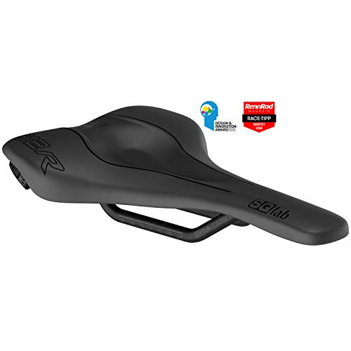 SQlab 612 Ergowave R Carbono Sillín de Bicicleta, Adultos Unisex, Negro, 14 cm