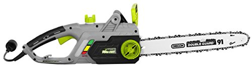 Earthwise CS33016 16-Inch 12-Amp Corded Electric Chainsaw, Green