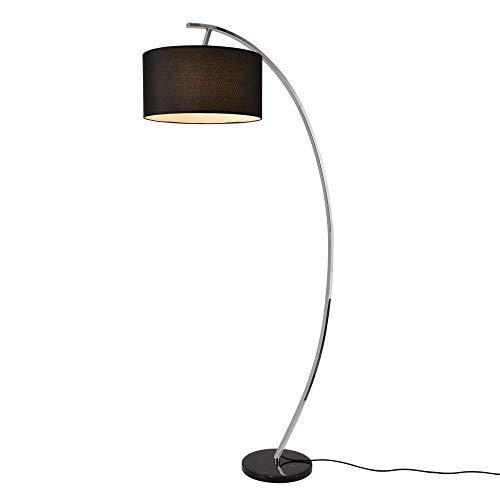 lux.pro Stehleuchte 'Steiermark' auf Standfuß aus Marmor 1 x E27 max. 60W 153cm Bogenlampe Stehlampe Standleuchte Leselampe Bogen Lampe