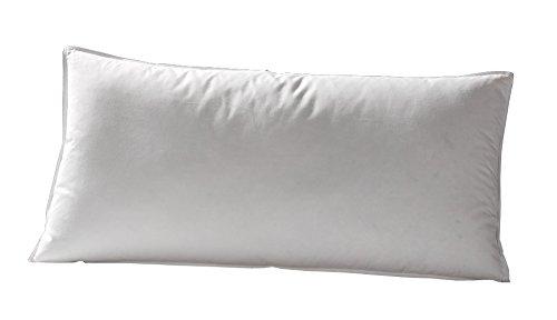 Häussling Drei-Kammer-Kissen Comfort - 40x80 cm - 100% Federn, 100% Daunen - 550 g - super soft - Deutsches Qualitätsprodukt