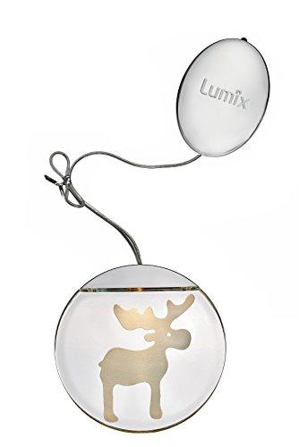 KRINNER Lumix Deco Lights - Elch Acryl 10 x 10 cm, Chrom 76103