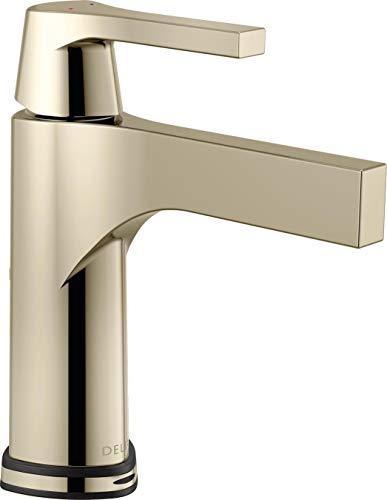 Delta Faucet 574T-PN-DST, Polished Nickel Zura Single Handle Centerset Lavatory Faucet with Technology