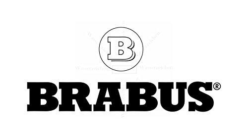 Sticker-Designs 5cm!4Stück! Klebe-Folie Wetterfest Made-IN-Germany kompatibel für: Brabus Logo Auto AD062 UV&Waschanlagenfest Auto-Aufkleber-Rad-Narbenkappen-Deckel-Tuning