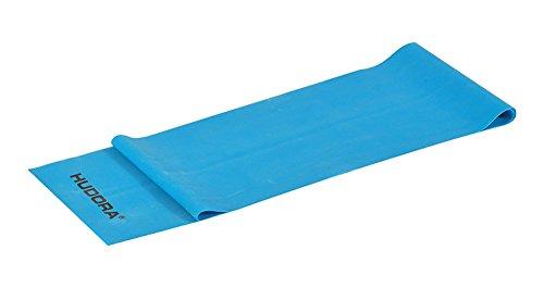 Hudora Fitnessband blau, schwer, latex, 2,0 meter lang - in der Praktischen Box mit Übungsheft