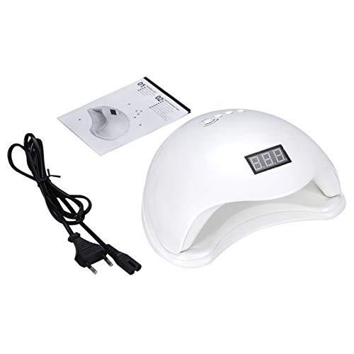 UV-Nagellicht Nagellampe Mit 4-Timer-Einstellung Aushärtungswerkzeug UV-LED-Nagellampe für Gel-Nagellack(white, European standard 220V)