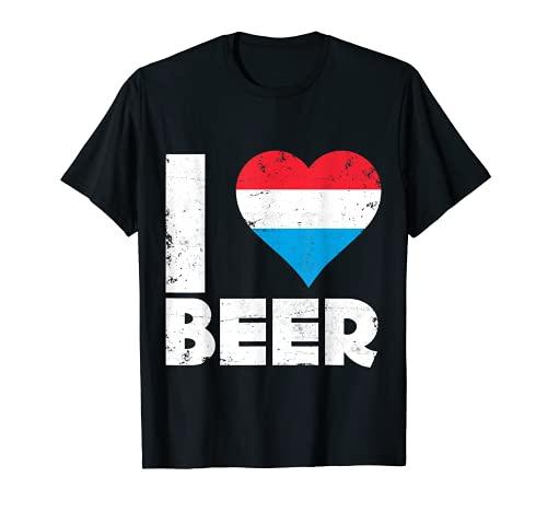 I herz Luxembourger Bier Luxemburg Pride Trinken Love Tee