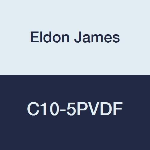 Eldon James C10-5PVDF Industrial Large special Dallas Mall price Gray Coupler Kynar 5 Reduction