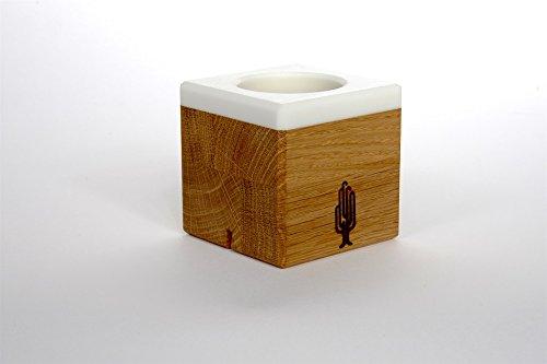 Aufsteller für Fotos und Kerzenständer 2in1, Holz, Eiche