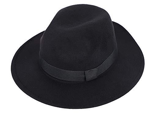Sombrero de melón Hombre Mujer cálido Gorra Fieltro Lana Mode Jazz Hat Transpirable Plegable Sombrero de Cuenca Invierno Bowler Hats Viaje Halloween