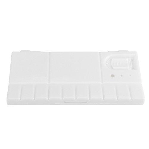 Caja hermética plegable de 24 pozos, paleta de mezcla de pintura plana,...